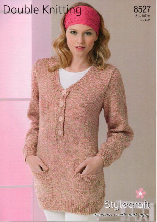 Stylecraft DK yarn knitting pattern 8527