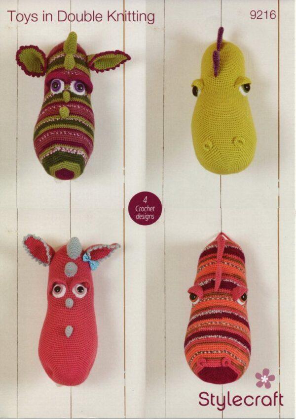 Stylecraft DK yarn toy knitting pattern 9216