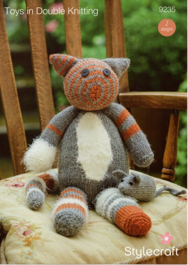 Stylecraft DK yarn toy knitting pattern 9235