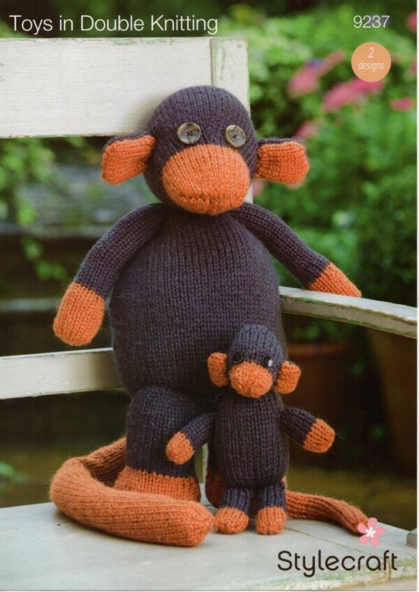 Stylecraft DK yarn toy knitting pattern 9237