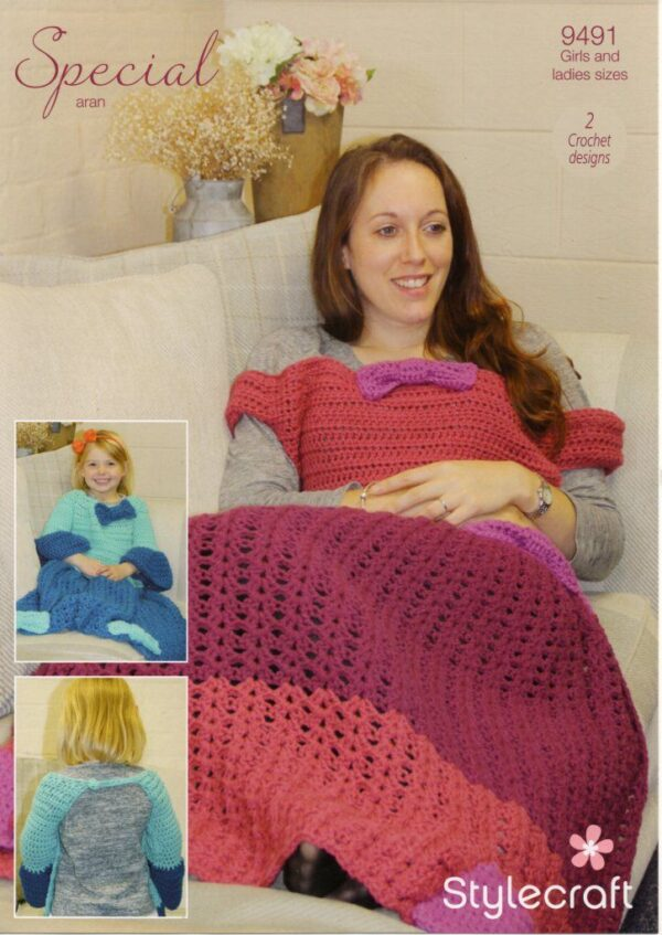 Stylecraft Special Aran yarn knitting pattern 9491