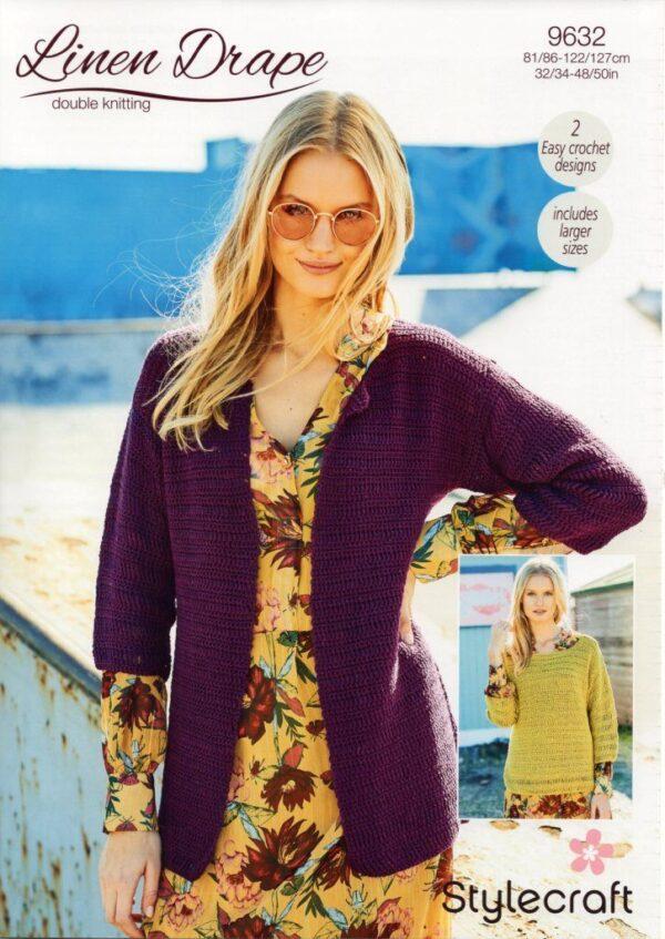 Stylecraft Linen Drape knitting pattern 9632