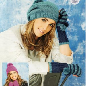 Stylecraft Starlight Aran-weight yarn knitting pattern 9647
