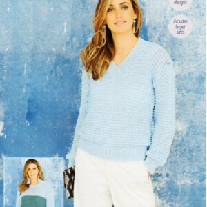 Stylecraft Starlight Aran-weight yarn knitting pattern 9649