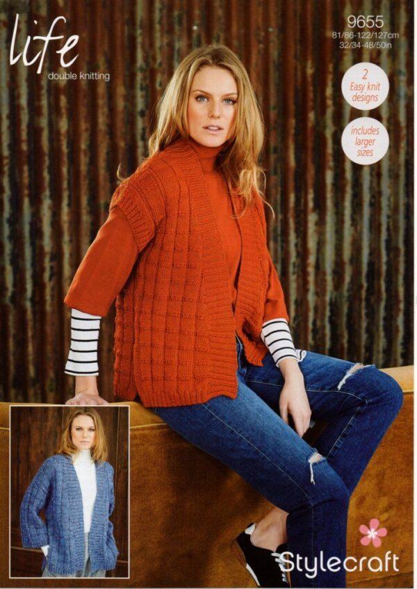 Stylecraft Life DK knitting pattern 9655