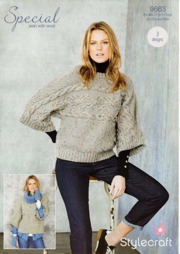 Stylecraft Special Aran with Wool knitting pattern 9663