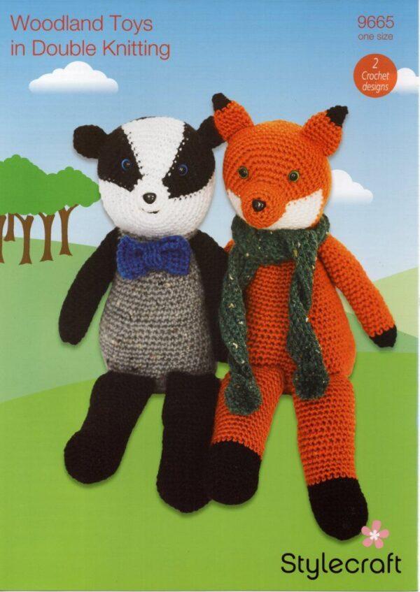 Stylecraft DK yarn toy crochet pattern 9665
