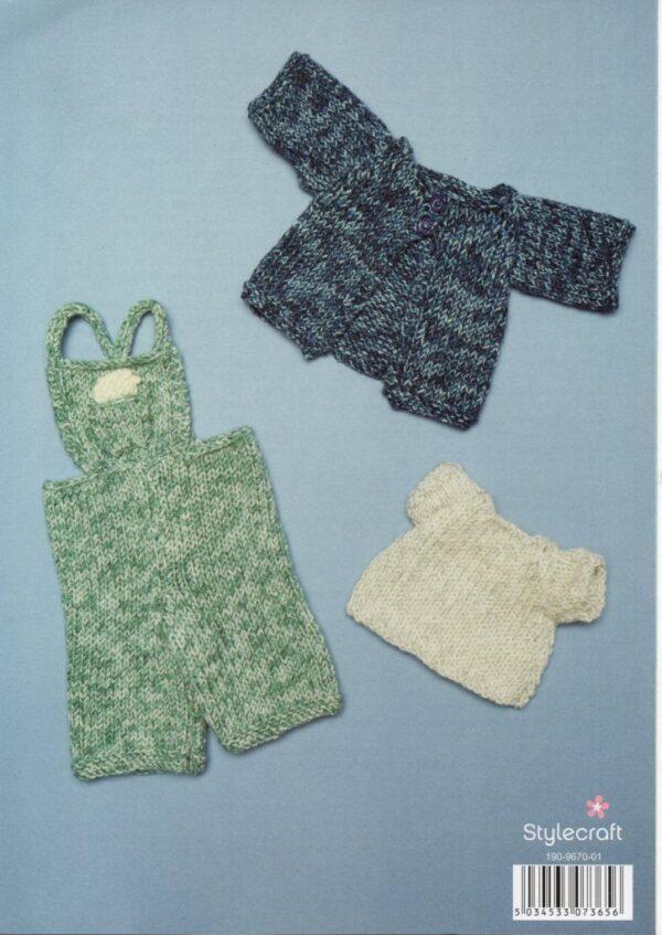 Stylecraft DK yarn toy knitting pattern 9670