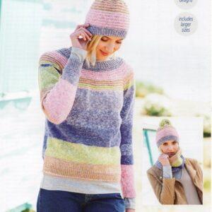 Stylecraft Batik Swirl DK knitting pattern 9671
