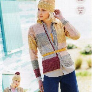 Stylecraft Batik Swirl DK knitting pattern 9672