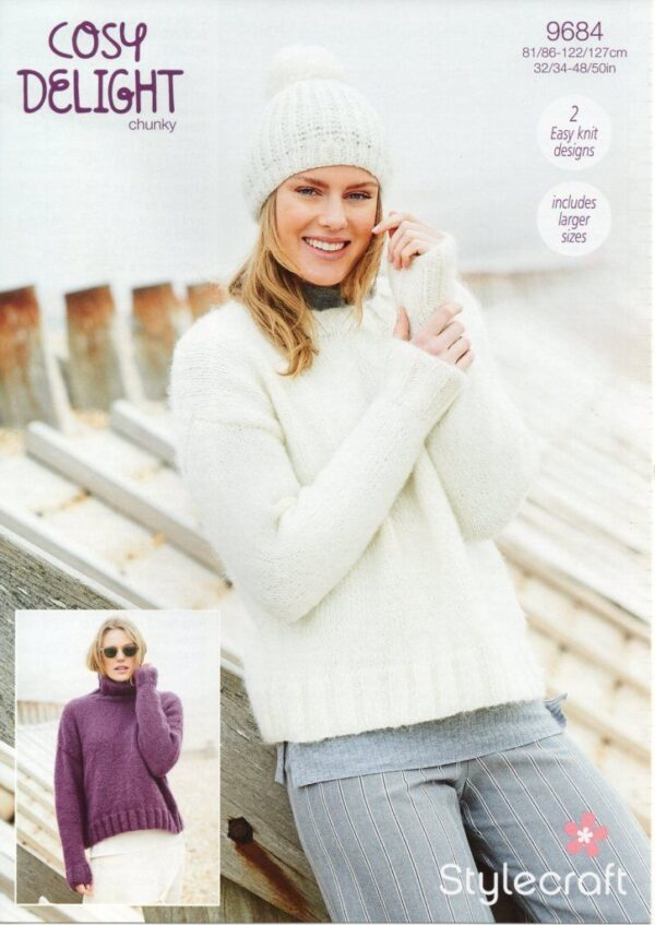 Stylecraft Cosy Delight knitting pattern 9684