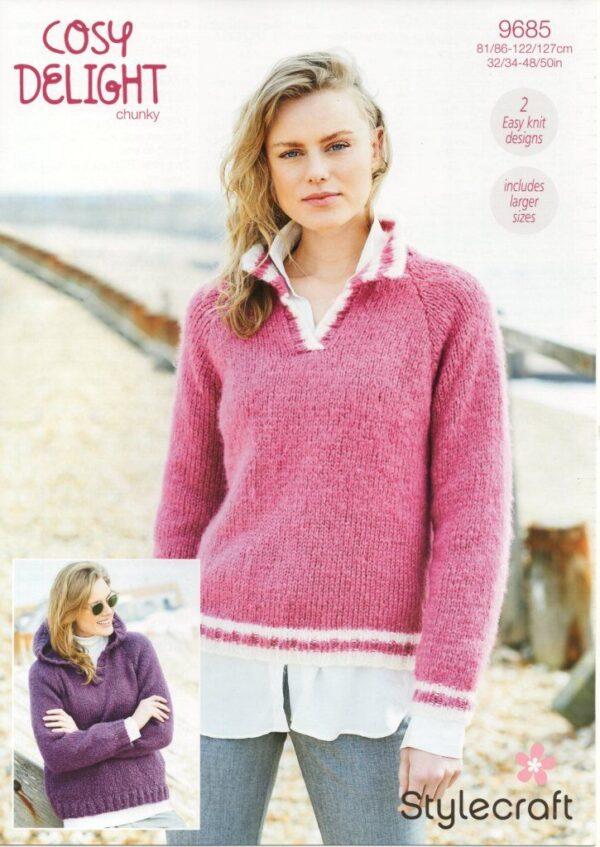 Stylecraft Cosy Delight knitting pattern 9685