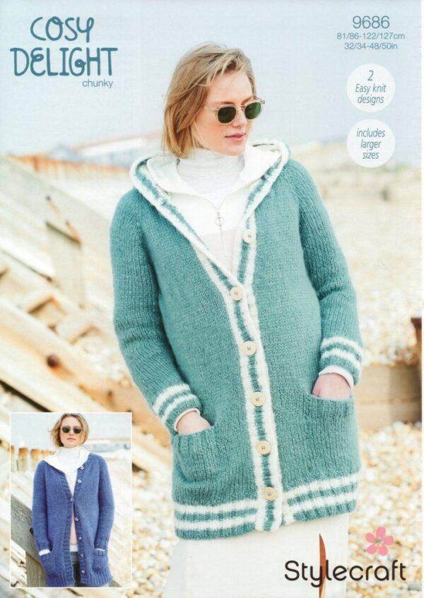 Stylecraft Cosy Delight knitting pattern 9686