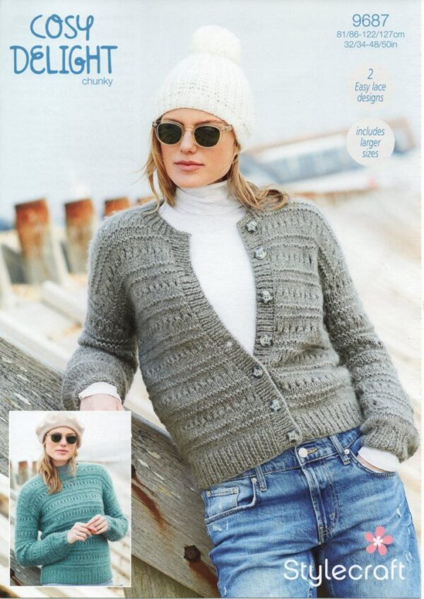 Stylecraft Cosy Delight knitting pattern 9687