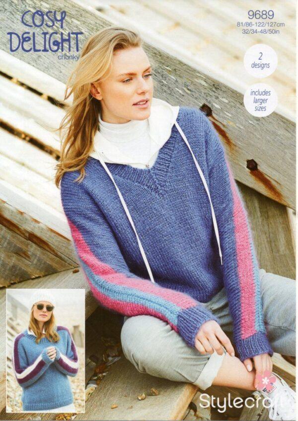 Stylecraft Cosy Delight knitting pattern 9689