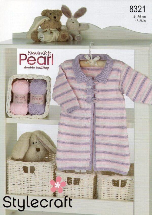 Stylecraft Pearl DK yarn pattern 8321