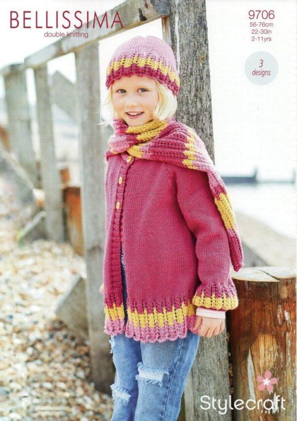 Stylecraft Bellissima yarn pattern 9706