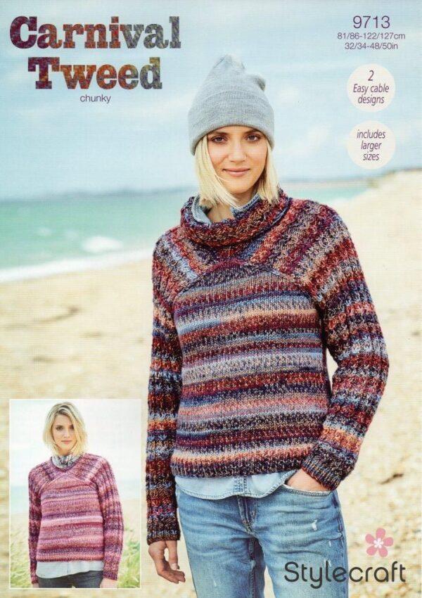 Stylecraft Carnival Tweed yarn pattern 9713