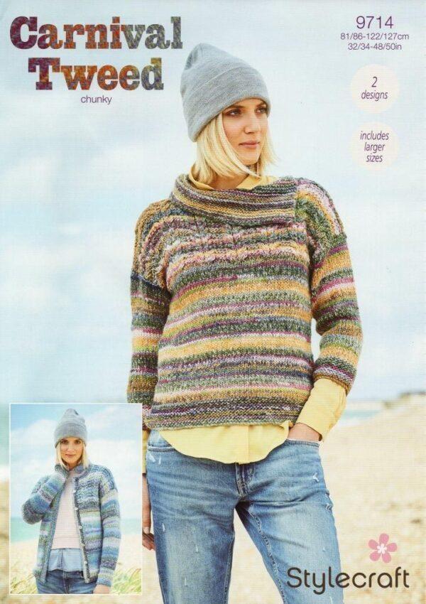 Stylecraft Carnival Tweed yarn pattern 9714