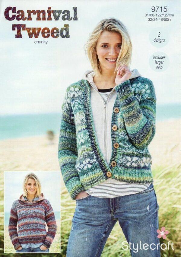 Stylecraft Carnival Tweed yarn pattern 9715