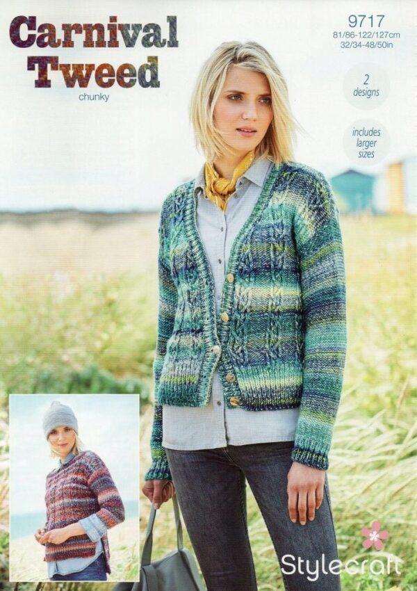 Stylecraft Carnival Tweed yarn pattern 9717