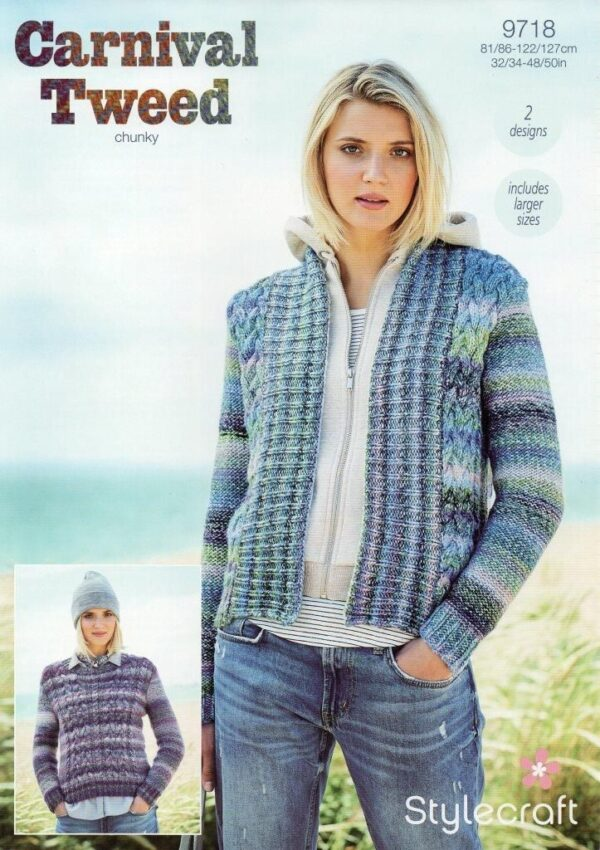 Stylecraft Carnival Tweed yarn pattern 9718