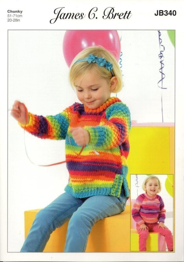 James C Brett Party Time yarn pattern JB340