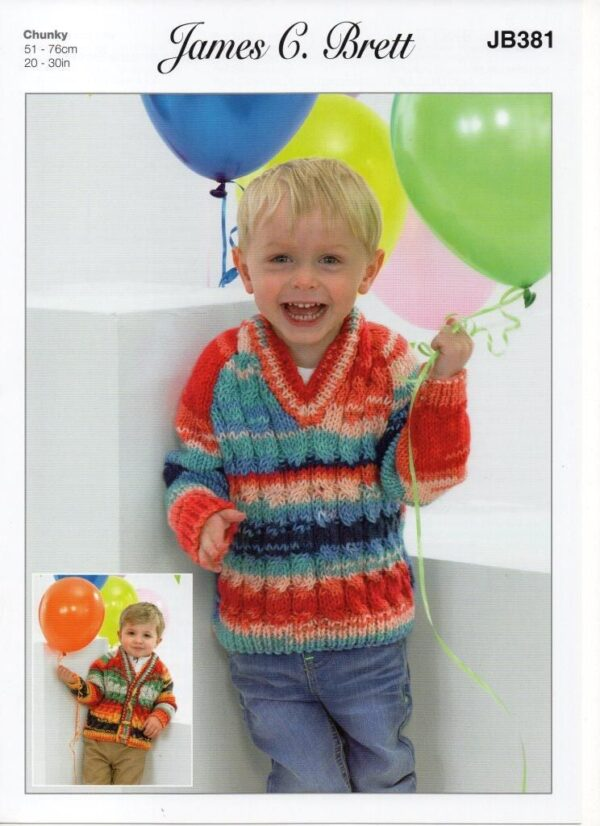 James C Brett Party Time yarn pattern JB381