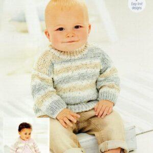 Stylecraft Bambino Prints DK baby yarn pattern 9744
