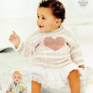 Stylecraft Bambino Prints DK baby yarn pattern 9745
