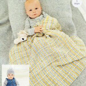 Stylecraft Bambino Prints DK baby yarn pattern 9748