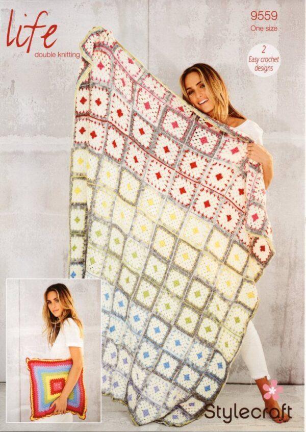 Life DK yarn crochet pattern 9559