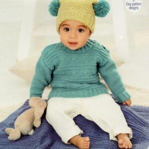 Stylecraft Bambino double knitting yarn knitting pattern 9761