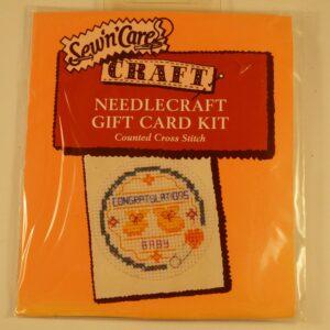 Cross Stitch Card Kit Congratulations Baby