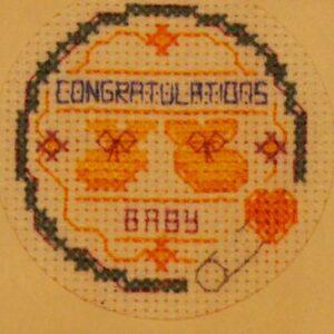 CrossStitchKit CongratulationsBaby Design