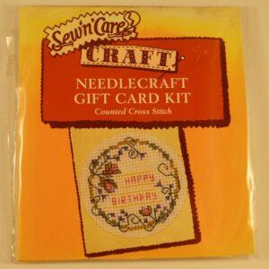 Cross Stitch Card Kit Happy Birthday