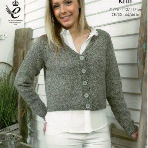 King Cole double knitting yarn knitting pattern 4125