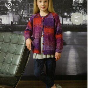 King Cole double knitting yarn knitting pattern 4377