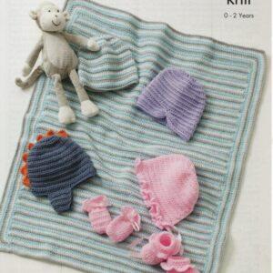 King Cole double knitting yarn crochet pattern 5415