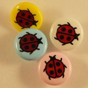 Round Ladybird Buttons
