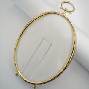 Gold, Oval Cross Stitch Frame