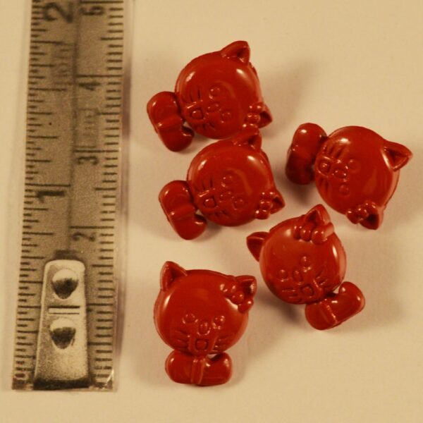 Kitten button rear shank one colour Red