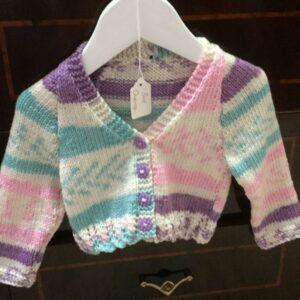 Hymalaya double knitting yarn baby cardigan