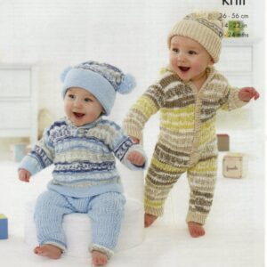 King Cole double knitting baby pattern 5428