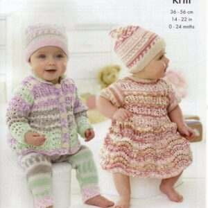 King Cole 4 ply baby knitting pattern 5431